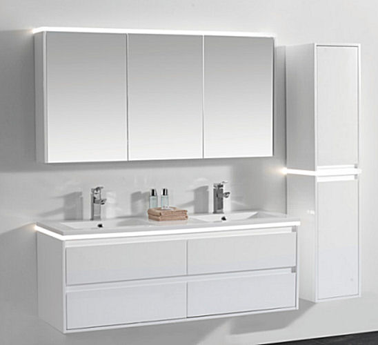 Wall Hung Double Vanity Unit Cabinet Set BGSS080-1500
